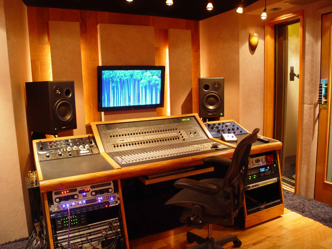 Home production studios blue collar builders for Studio room design